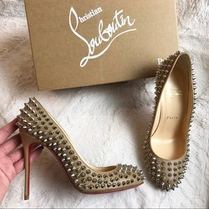 $695 BNIB CHRISTIAN LOUBOUTIN FIFI SPIKE 100mm 37